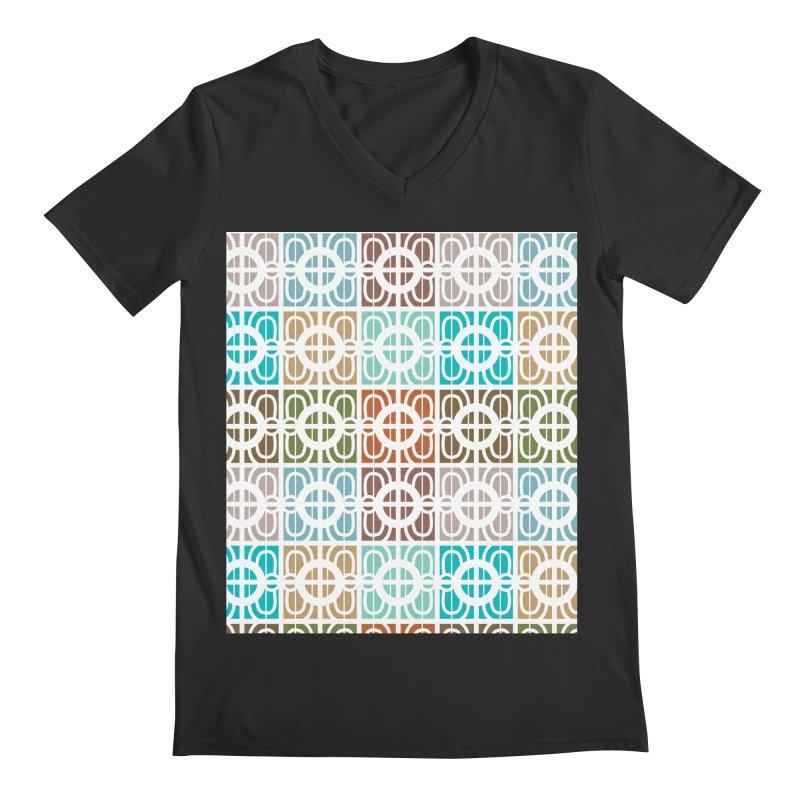 Desert Tiles Men's Regular V-Neck by Svaeth's Artist Shop