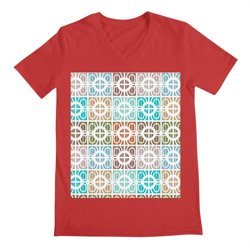 Desert Tiles Men's Regular V-Neck by Svaeth's Artist Shop