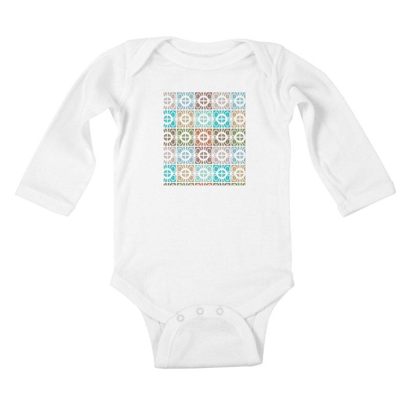 Desert Tiles Kids Baby Longsleeve Bodysuit by Svaeth's Artist Shop