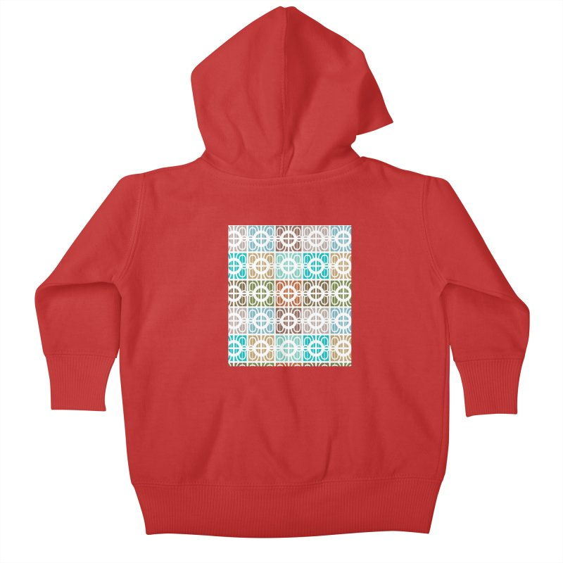 Desert Tiles Kids Baby Zip-Up Hoody by Svaeth's Artist Shop