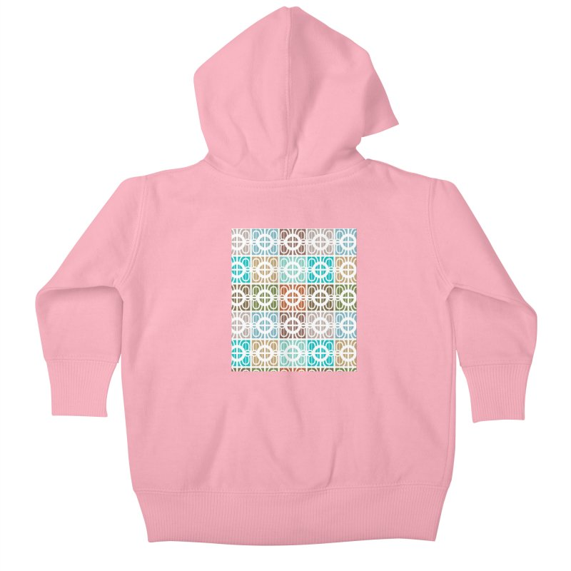 Desert Tiles Kids Baby Zip-Up Hoody by Svaeth's Artist Shop