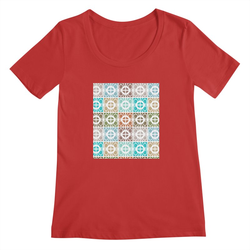 Desert Tiles Women's Regular Scoop Neck by Svaeth's Artist Shop