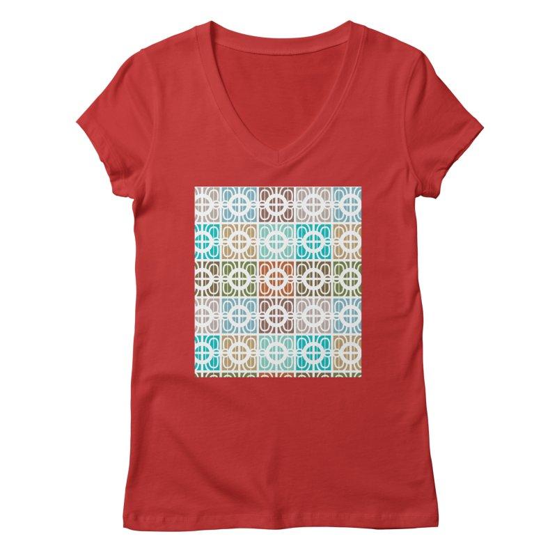 Desert Tiles Women's Regular V-Neck by Svaeth's Artist Shop