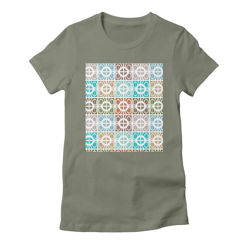 Desert Tiles Women's Fitted T-Shirt by Svaeth's Artist Shop