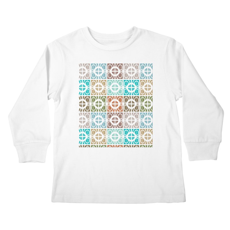 Desert Tiles Kids Longsleeve T-Shirt by Svaeth's Artist Shop