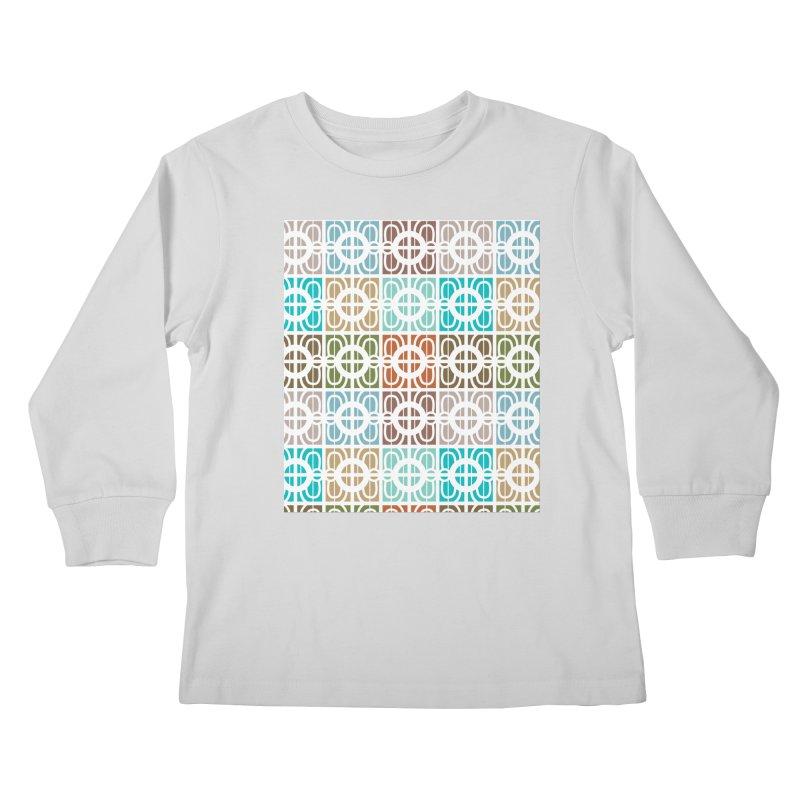 Desert Tiles Kids Longsleeve T-Shirt by Svaeth's Artist Shop