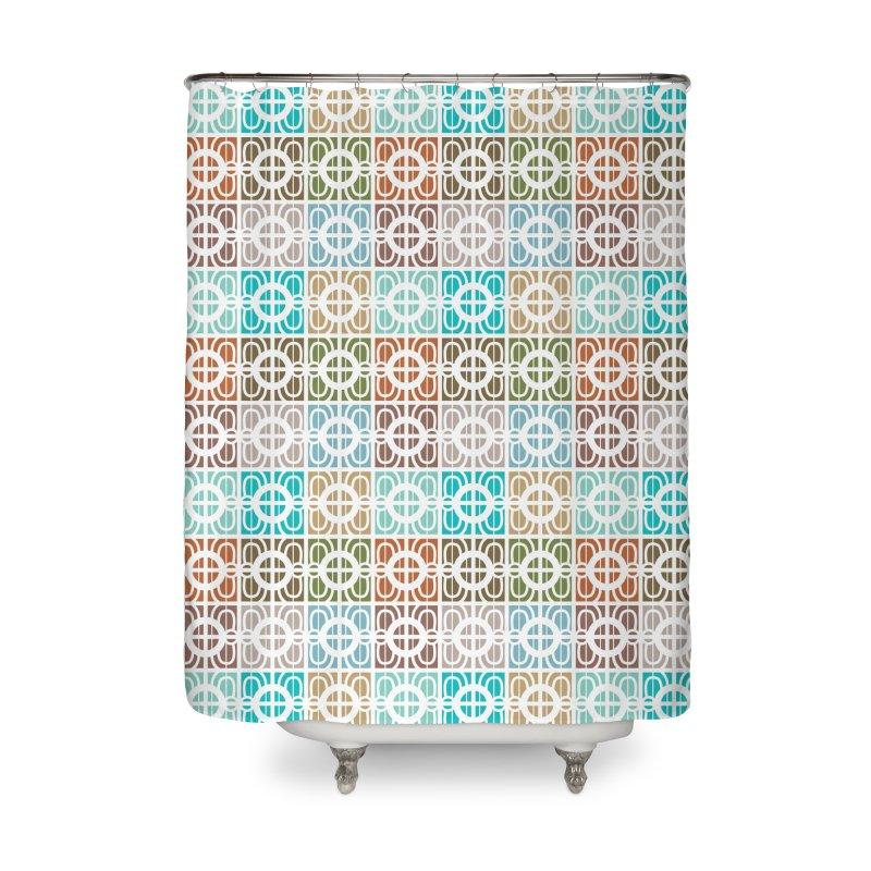 Desert Tiles Home Shower Curtain by Svaeth's Artist Shop
