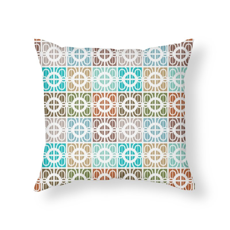 Desert Tiles Home Throw Pillow by Svaeth's Artist Shop