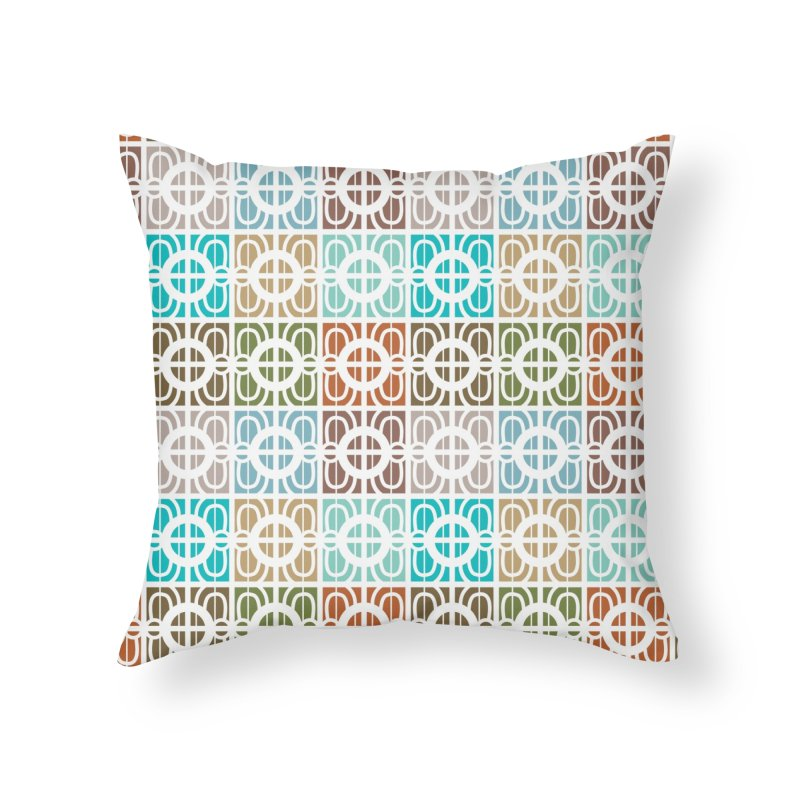 Desert Tiles Home Throw Pillow by Svaeth's Artist Shop
