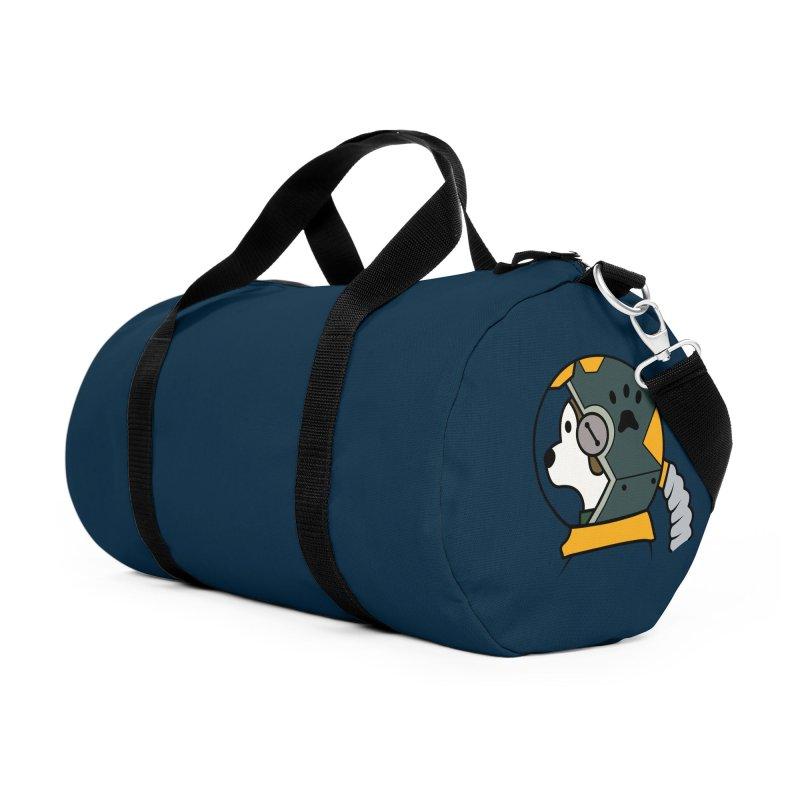 Space Dog Accessories Duffel Bag Bag by Svaeth's Artist Shop