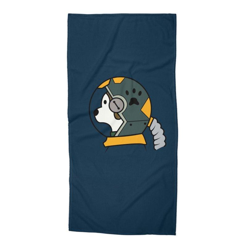 Space Dog Accessories Beach Towel by Svaeth's Artist Shop