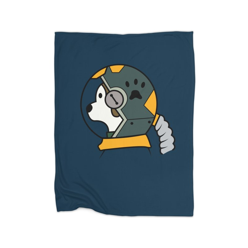 Space Dog Home Fleece Blanket Blanket by Svaeth's Artist Shop