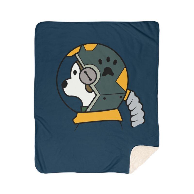 Space Dog Home Sherpa Blanket Blanket by Svaeth's Artist Shop