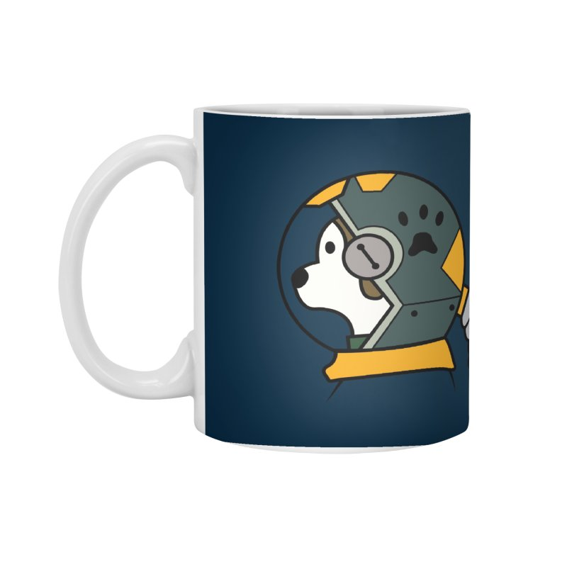 Space Dog Accessories Mug by Svaeth's Artist Shop