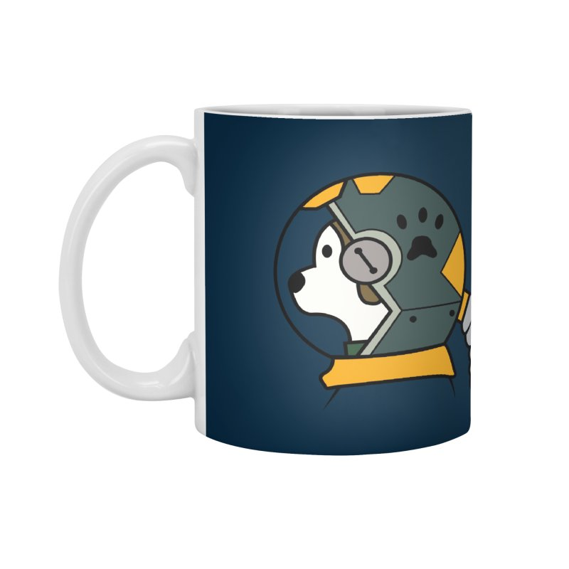 Space Dog Accessories Standard Mug by Svaeth's Artist Shop