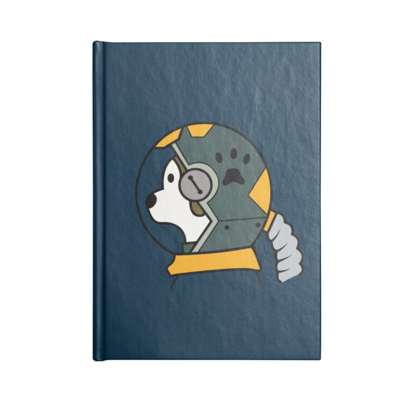 Space Dog Accessories Lined Journal Notebook by Svaeth's Artist Shop