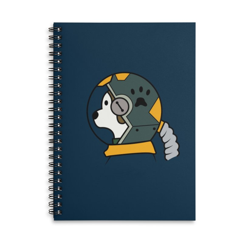 Space Dog Accessories Lined Spiral Notebook by Svaeth's Artist Shop