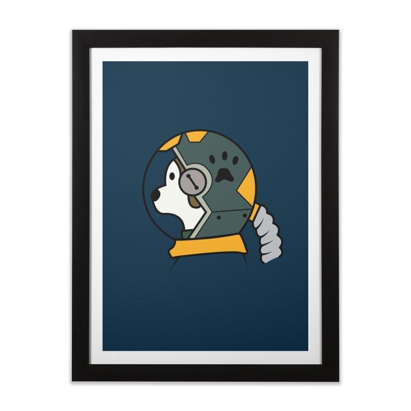 Space Dog Home Framed Fine Art Print by Svaeth's Artist Shop