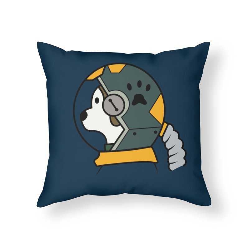 Space Dog Home Throw Pillow by Svaeth's Artist Shop