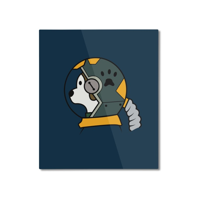 Space Dog Home Mounted Aluminum Print by Svaeth's Artist Shop