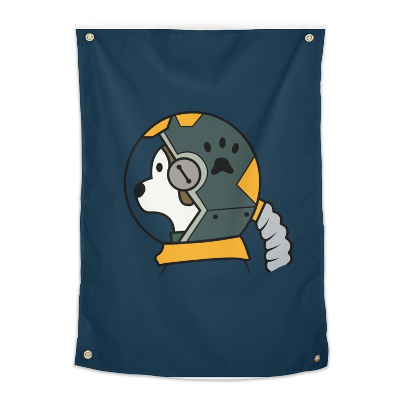 Space Dog Home Tapestry by Svaeth's Artist Shop