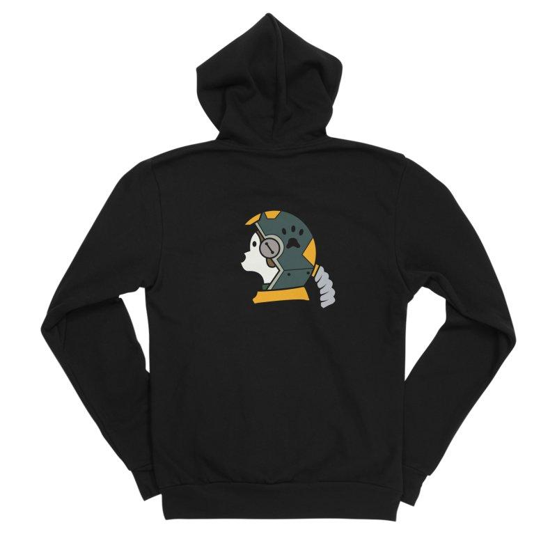 Space Dog Men's Sponge Fleece Zip-Up Hoody by Svaeth's Artist Shop