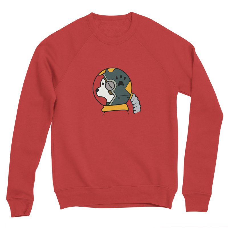 Space Dog Men's Sponge Fleece Sweatshirt by Svaeth's Artist Shop