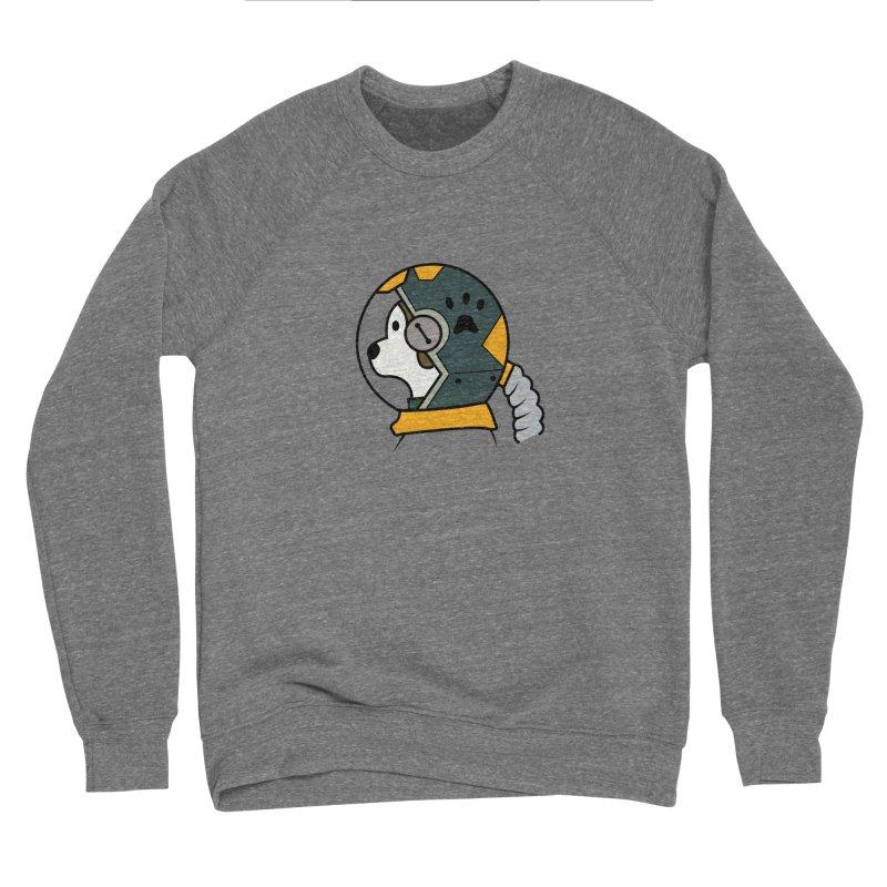 Space Dog Women's Sponge Fleece Sweatshirt by Svaeth's Artist Shop