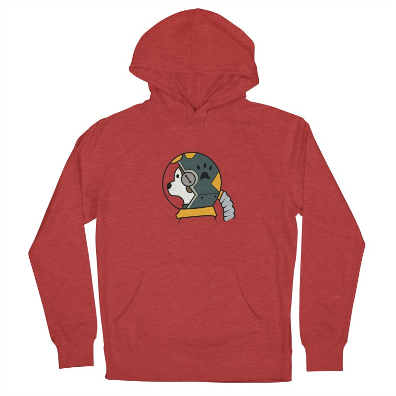 Space Dog Women's French Terry Pullover Hoody by Svaeth's Artist Shop