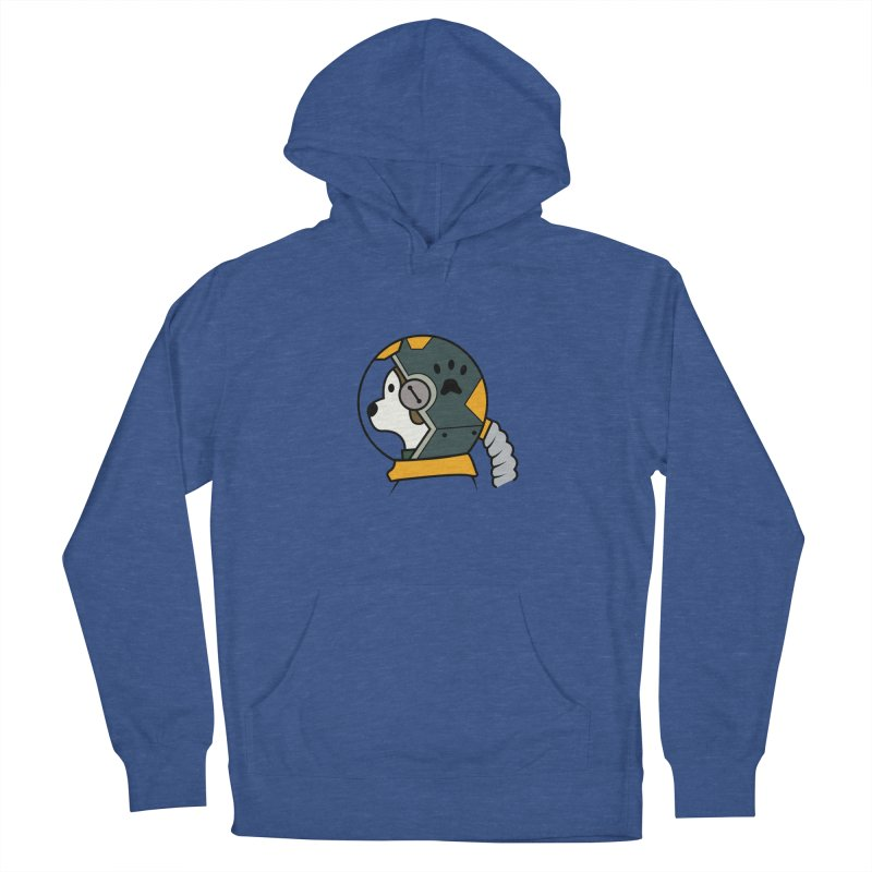 Space Dog Men's French Terry Pullover Hoody by Svaeth's Artist Shop