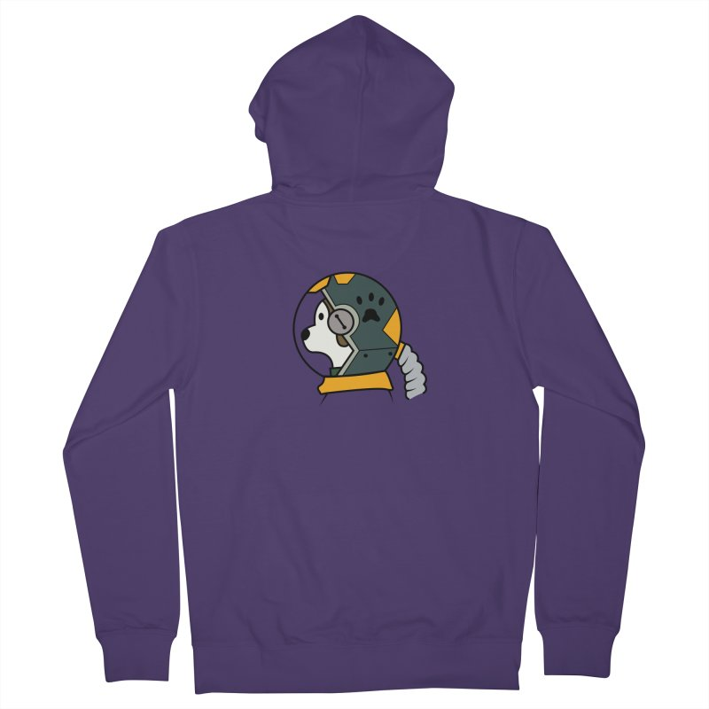Space Dog Women's French Terry Zip-Up Hoody by Svaeth's Artist Shop