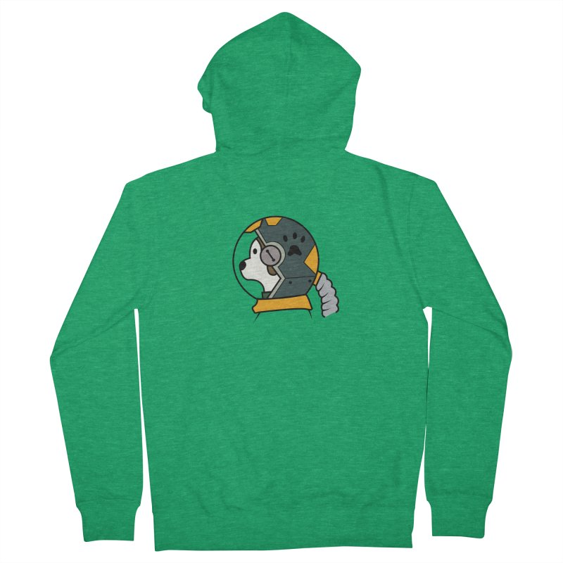 Space Dog Men's Zip-Up Hoody by Svaeth's Artist Shop