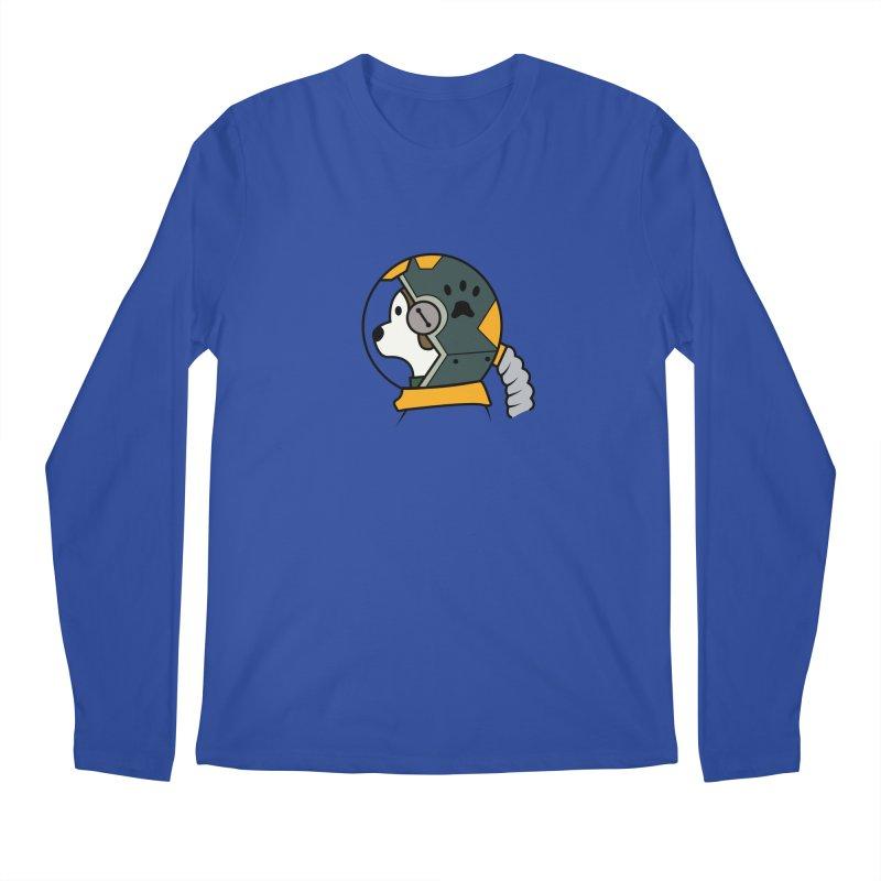 Space Dog Men's Longsleeve T-Shirt by Svaeth's Artist Shop