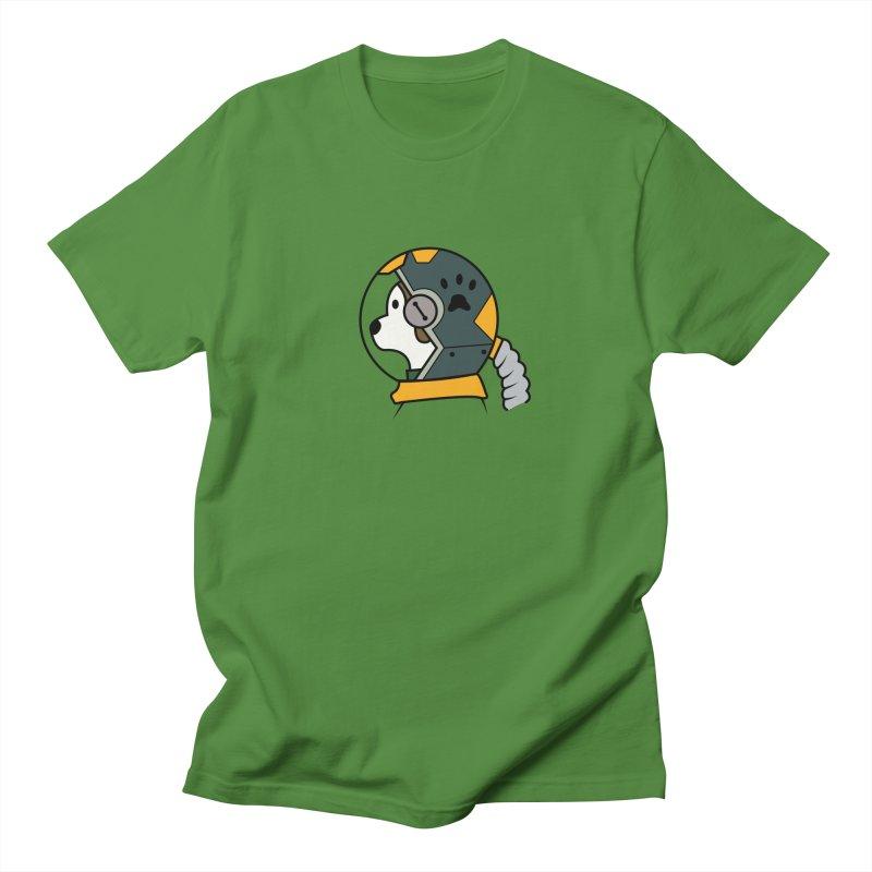 Space Dog Men's T-Shirt by Svaeth's Artist Shop