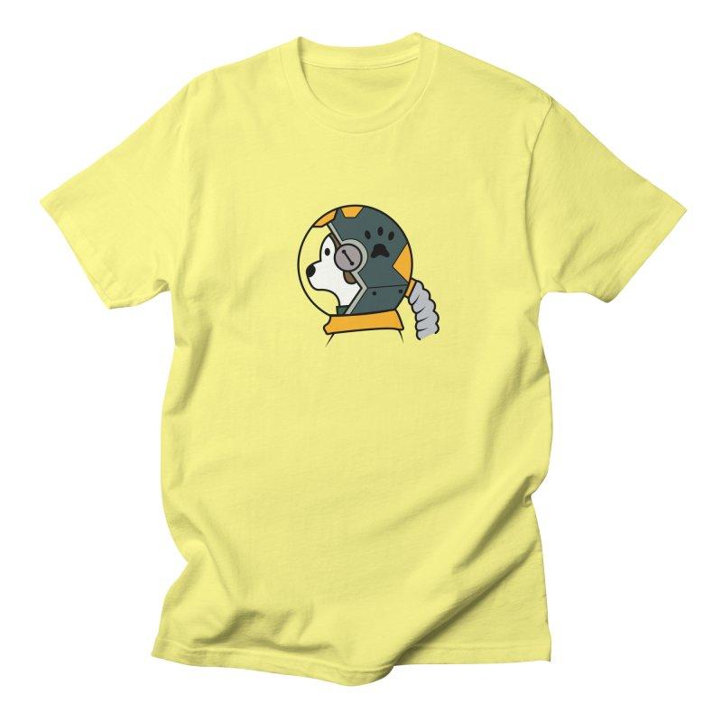 Space Dog Men's Regular T-Shirt by Svaeth's Artist Shop