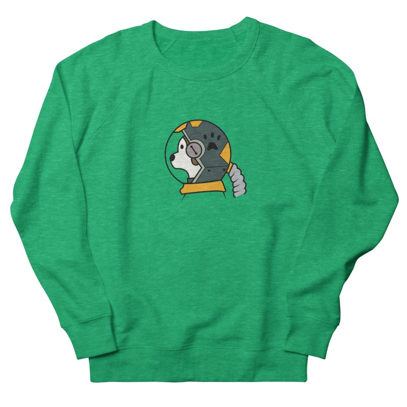 Space Dog Men's French Terry Sweatshirt by Svaeth's Artist Shop