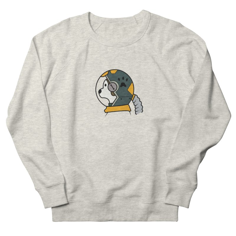 Space Dog Men's French Terry Sweatshirt by Svaeth's Artist Shop