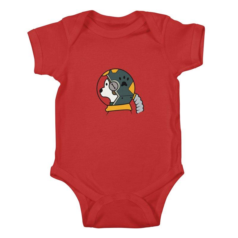 Space Dog Kids Baby Bodysuit by Svaeth's Artist Shop