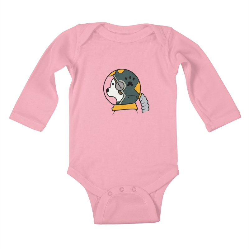 Space Dog Kids Baby Longsleeve Bodysuit by Svaeth's Artist Shop