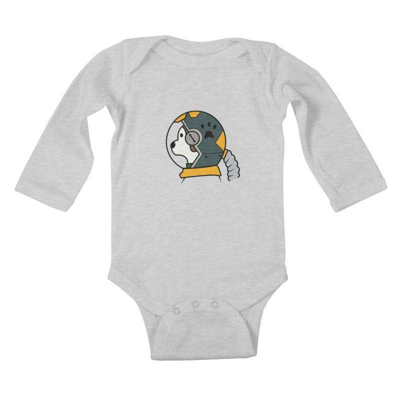 Space Dog Kids Baby Longsleeve Bodysuit by Svaeth's Artist Shop