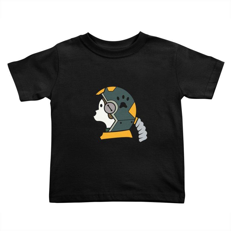 Space Dog Kids Toddler T-Shirt by Svaeth's Artist Shop