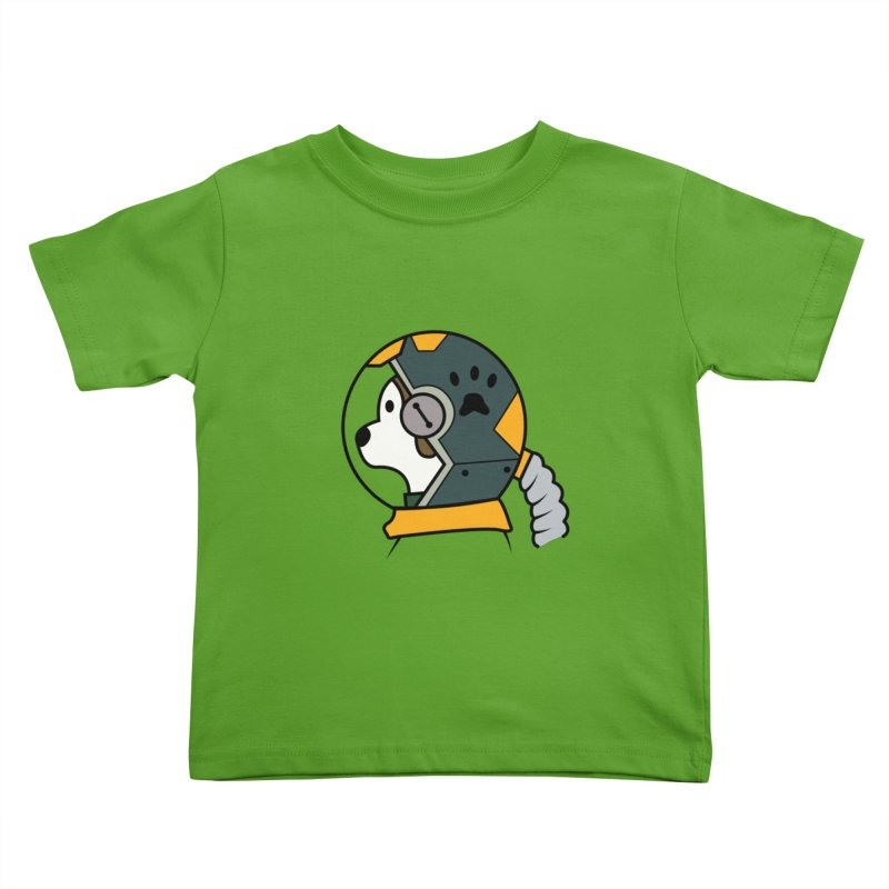 Space Dog Kids Toddler T-Shirt by Svaeth's Artist Shop