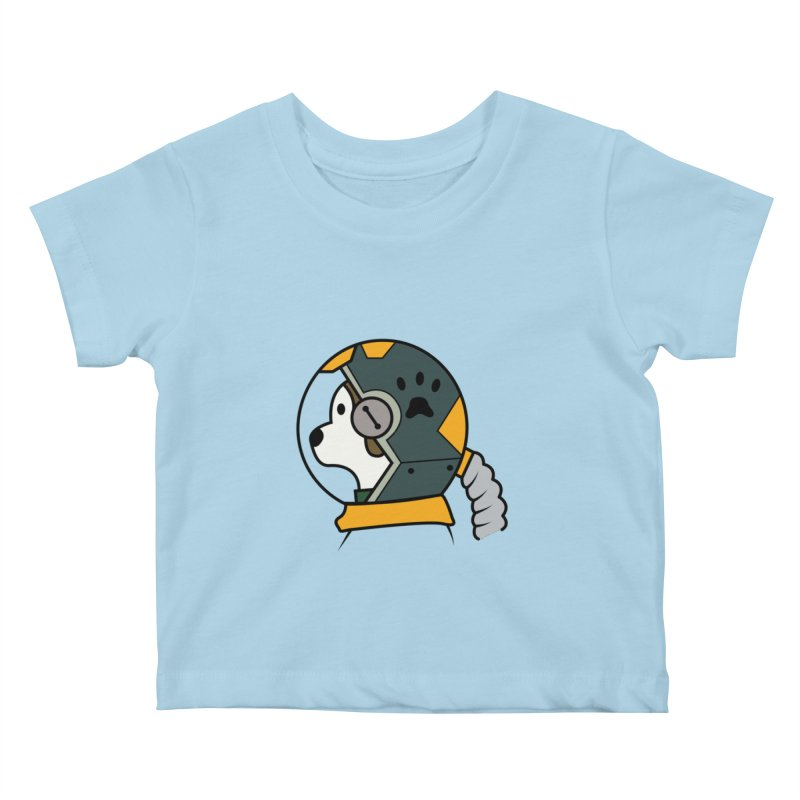 Space Dog Kids Baby T-Shirt by Svaeth's Artist Shop