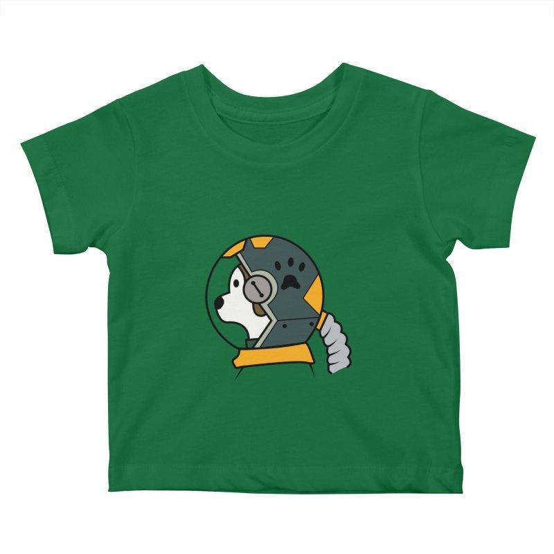 Space Dog Kids Baby T-Shirt by Svaeth's Artist Shop