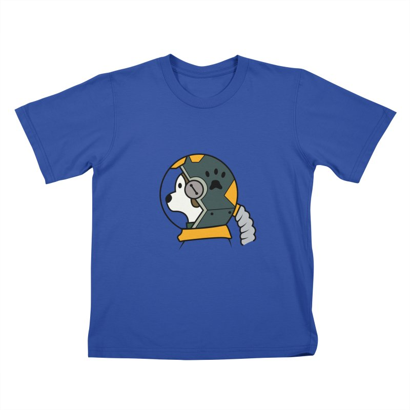 Space Dog Kids T-Shirt by Svaeth's Artist Shop