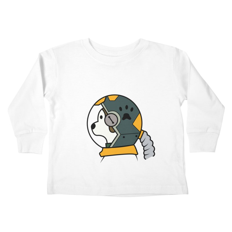 Space Dog Kids Toddler Longsleeve T-Shirt by Svaeth's Artist Shop