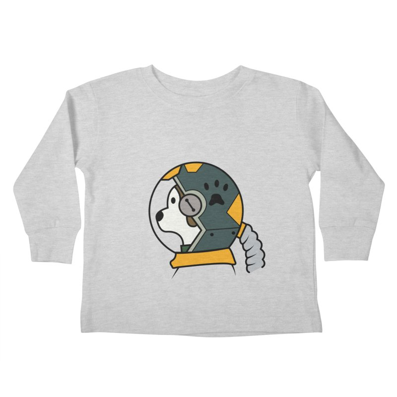 Space Dog Kids Toddler Longsleeve T-Shirt by Svaeth's Artist Shop