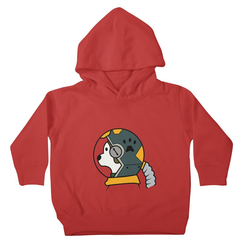 Space Dog Kids Toddler Pullover Hoody by Svaeth's Artist Shop