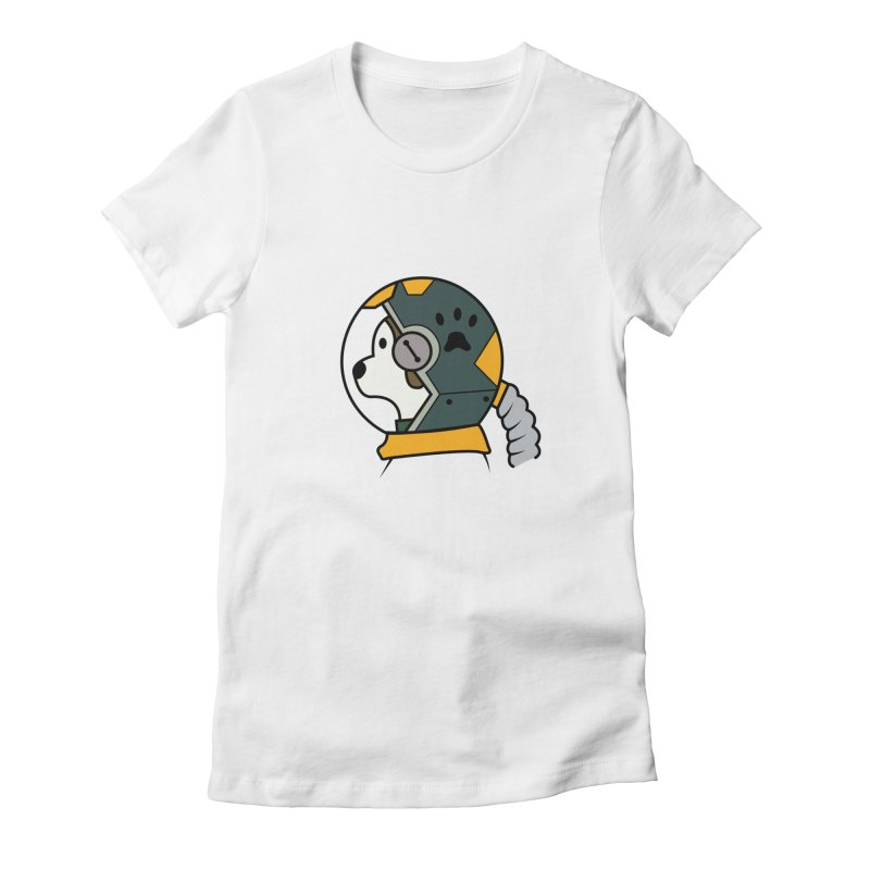 Space Dog Women's Fitted T-Shirt by Svaeth's Artist Shop