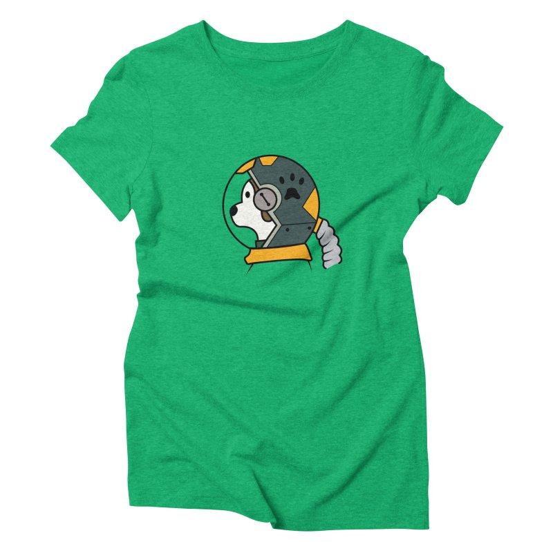 Space Dog Women's Triblend T-Shirt by Svaeth's Artist Shop